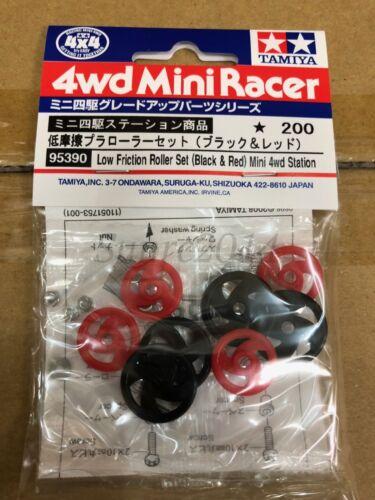 Tamiya 95390 1//32 MINI 4x4 basso attrito Roller Set-Mini stazione 4x4 Nero//Rosso