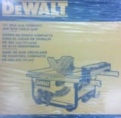 New Dewalt Dwe7480 10 Inch Portable Compact Table Saw 24 Rip 15 Amp With Blade Ebay