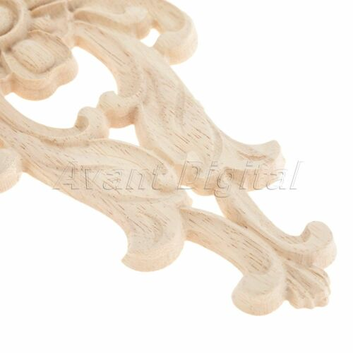 Wood Carved Corner Decal Applique Onlay Furniture Elegant Unpainted Decoration
