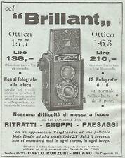 W7019 VOIGTLANDER - Brillant ottica 1:6,3 - Pubblicità del 1933 - Vintage advert