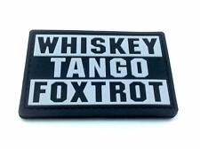 Whiskey Tango Foxtrot WTF Black PVC Airsoft Paintball Patch