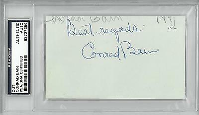 Movies Imported From Abroad Conrad Bain Signed Authentic Autographed 3x5 Index Card Slabbed Psa/dna#83727654
