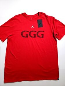salón Maryanne Jones Reactor  Nike Jordan GGG Gennady Golovkin T-Shirt Red AQ8818 687 Mens Size XL   eBay