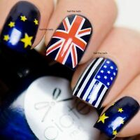 Flags USA UK Nail Wraps Nails Art Nail 3D Decals Water Transfers Olympic Y115