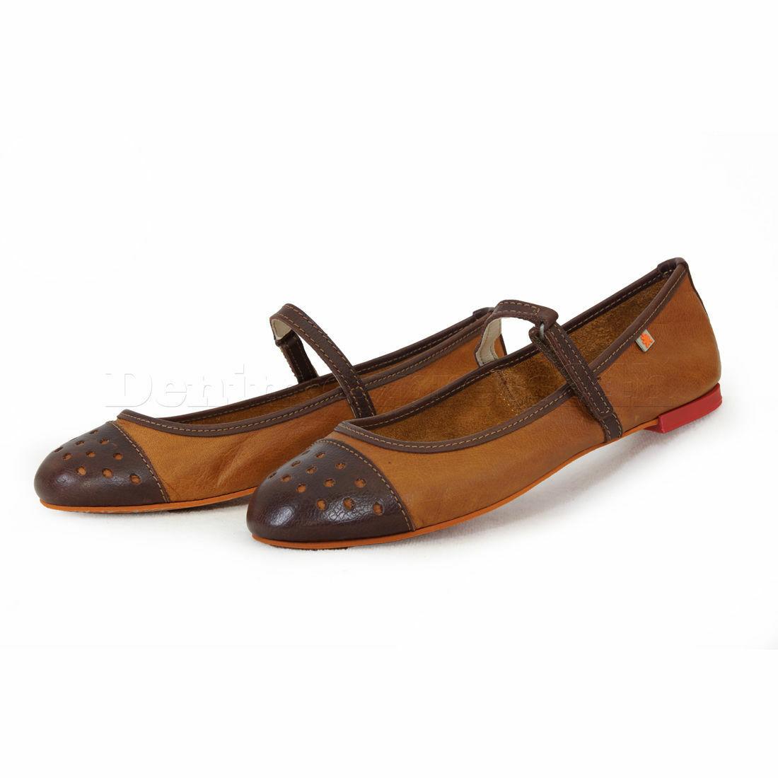 Schuhe Damen COMPANY ART THE Ballerina Neuware caramel moka
