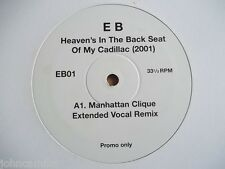 """ERROL BROWN - HEAVEN'S IN THE BACK SEAT OF MY CADILLAC 12"""" RECORD/VINYL - EB01"""