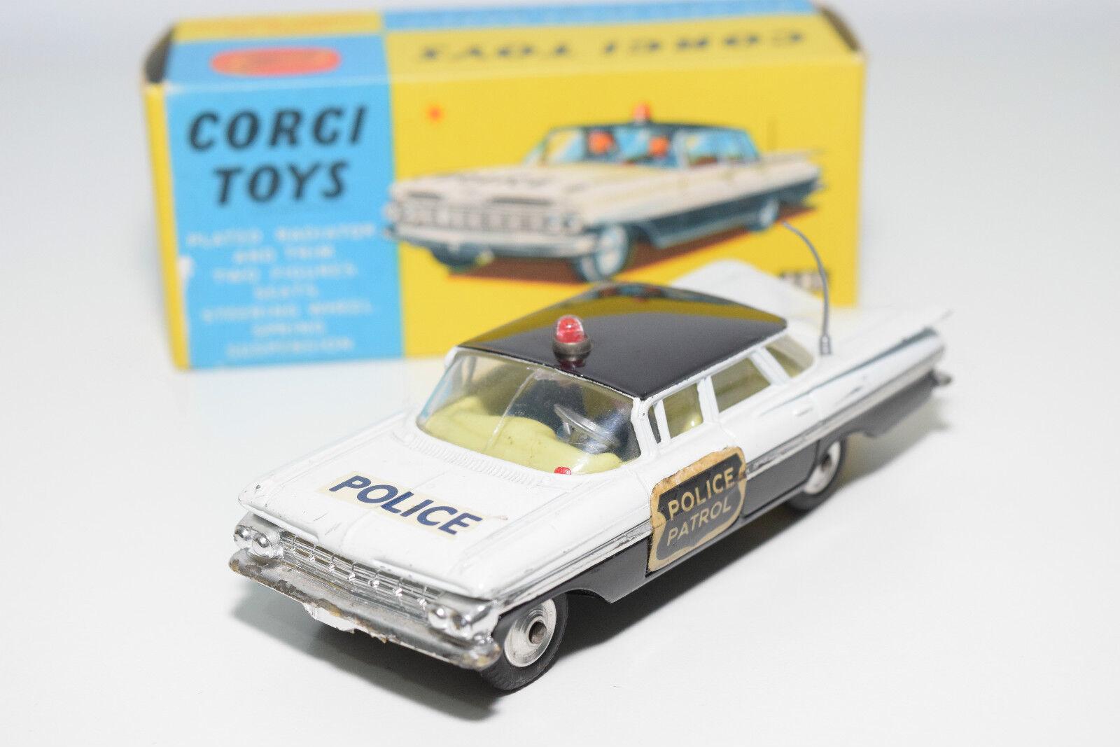 Corgi spielzeug 481 chevrolet polizeiautos patrouille ausgezeichnete boxen