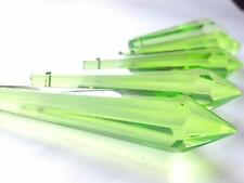 5 Chandelier Wedding Crystals Spring Green 80mm Icicle Feng Shui Suncatcher