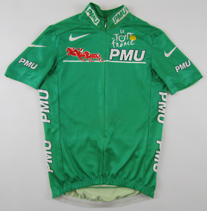 Details about Tour de France 2000s PMU maillot vert green cycling jersey  top Radtrikot Nike S