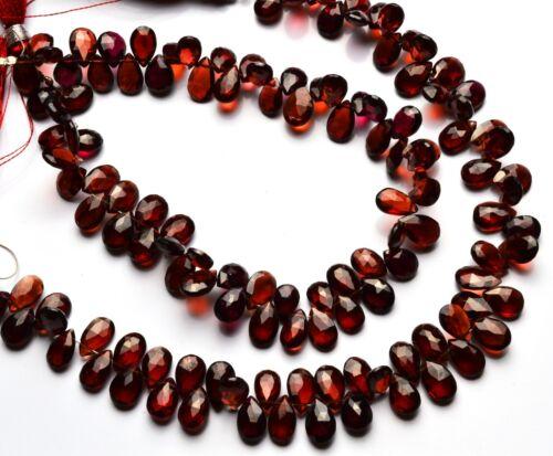 """Natural Gem Super Quality Blood Red Garnet Facet 6x8MM Pear Shape Briolettes 9/"""""""