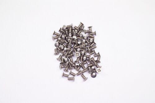 "Lot of 98 NAS662C2R3 MIL Machine Screws 2-56 Flat Head Phillips 3//16/"" Stainless"