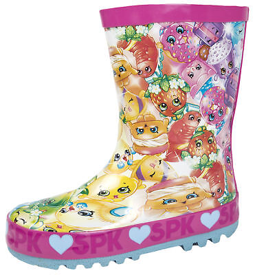 Shopkins Wellington Boots Girls Wellies SPK Shoppies Rubber Rain Snow Boots Size