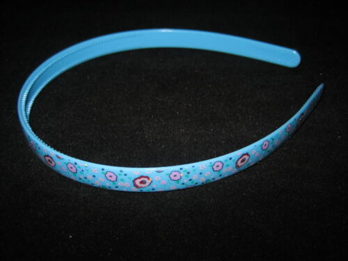 girls colourful thin alice band hairband with holographic flower design new