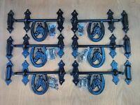 (6) Deluxe Horseshoe Barn Stall Door Drop Latches - Dutch Door Or Gate Latches