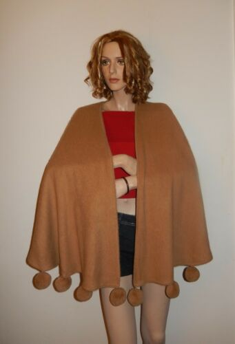 NWT CAPE ALPACA WITH POM POM