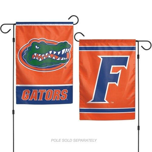 """UNIVERSITY OF FLORIDA 2 SIDED 12/""""x18/"""" GARDEN FLAG NEW /& OFFICIALLY LICENSED"""