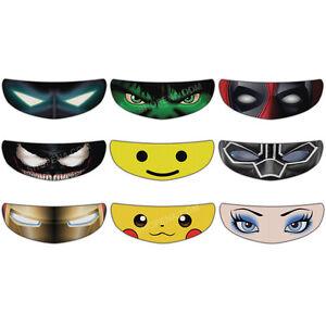 Helmet Visor Sticker Motorcycle Shield Decal Tint Venom Hulk - Motorcycle helmet visor decals