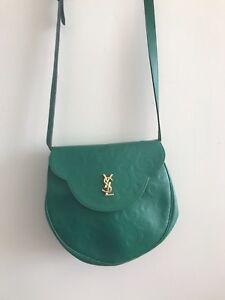 1b7192e8726 Image is loading Vintage-Green-YVES-SAINT-LAURENT-YSL-bag