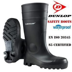 Mens-Ladies-Dunlop-Safety-Wellingtons-Wellies-Rain-Mucker-Steel-Toe-Caps-Boots