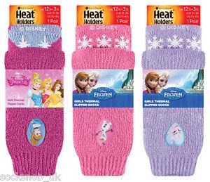 NUOVO-Heat-Holders-Bambine-Bambini-Thermal-Calzini-antiscivolo-congelati-Disney-amp-Minion