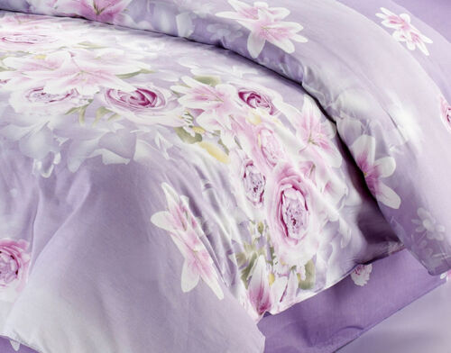 Floral Quilt Doona Duvet Cover Set Single Double Queen King Size Bed Pillow Case