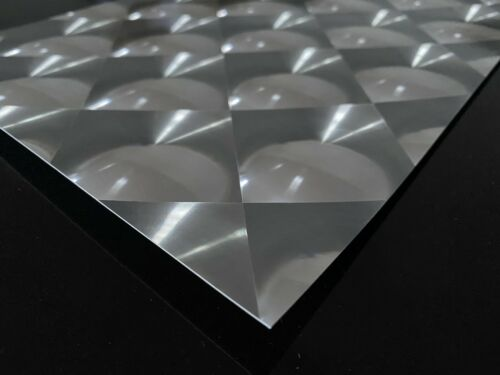 SILVER MIRROR 3D SQUARES A4 CRAFTING CARD 290 GSM *** AMAZING *** 20 SHEETS