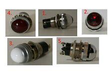 1 Dialco Dialight Panel Mount Indicator Lamp Holders 75w 125v Multi Color