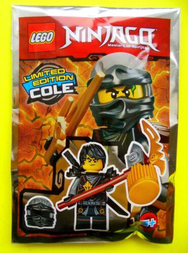 Lego Ninjago Cole mit Waffen und Helm Maske Limited Edition Ninja Polybag