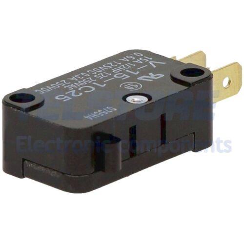 1pcs V-15-1C25 Micro pulsante senza leva finecorsa SPDT 15A/250VAC 0,6A/125VDC O