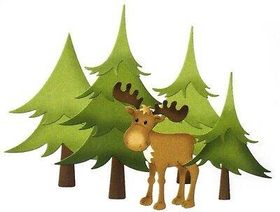 """CottageCutz Dies Moose In Forest 5.4/""""X4.2/"""" 819038025936"""