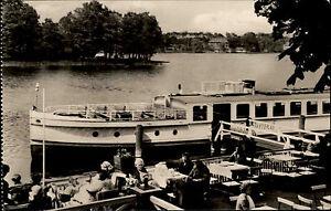 Fangschleuse-Brandenburg-DDR-s-w-AK-1969-HO-Gaststaette-Seeblick-Terrasse-Schiff