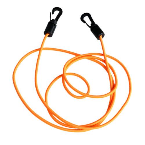 1.6m Bungee Rope Elastic Shock Cord Tie Canoe Down Line Leash /& Hooks 2 Colors