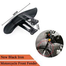 1x Retro 38cm Iron Motorcycle Front Fender Mudguard For Honda CG125 High Quality