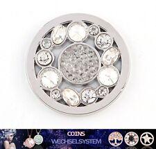 COIN COINS MÜNZEN Silber Kristall A 33mm auch kompatibel mit Quoins Moneda