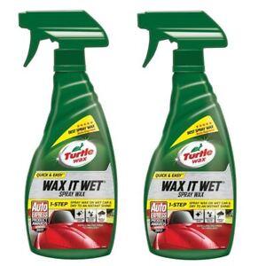 Turtle Wax Wax It Wet Liquid Car Spray Wax Easy to Use Detailer 2 x 500ml