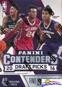 Panini Contenders draft picks baloncesto hobby box nba 2016//17 5 autographs