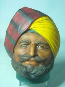 Legend-Products-INDIAN-PRINCE-4-Photos-Plaster-Chalkware-Head-Wall-Plaque