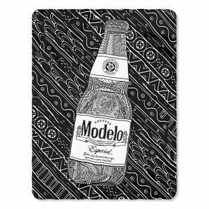 Modelo-Cerveza-Especial-Beer-Alcohol-Mexico-Mexican-Fleece-Throw-Blanket-NEW