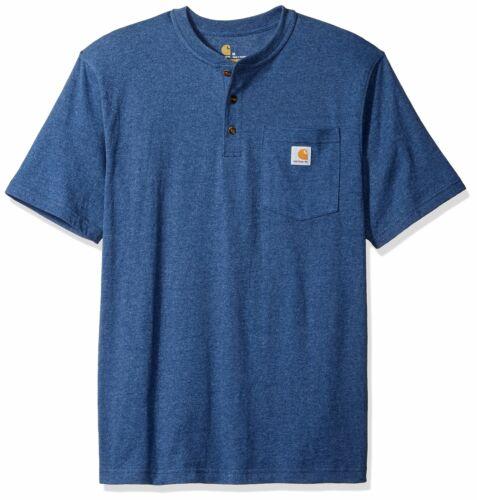 Carhartt Men/'s Workwear Pocket Short Sleeve Henley Midweight Jersey Original Fit