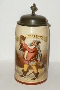 Vecchio Villeroy & Boch Mettlach Brocca Boccale Birra V + B Caraffe Pietra