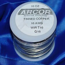 Big lb. roll of 16 Gauge Tinned Copper Wire 128' Roll 16 oz for rings or accents