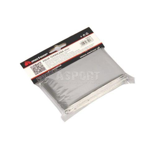 Papel aluminio lámina térmica protección solar para camping impermeable 130 x 185 cm Meteor