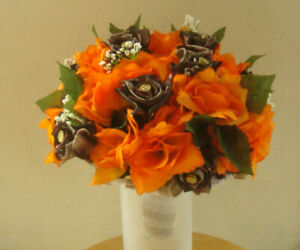 Corsage in orange and camo