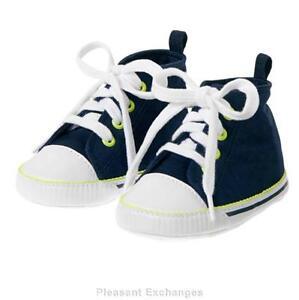NWT-Gymboree-6-9-12-mos-TINY-TEAL-Baby-Boys-High-Top-Crib-Sneaker-Shoes-Sz-03-04