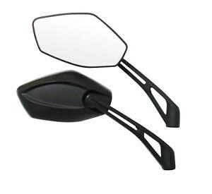 Coppia-Retrovisori-Specchi-Specchietti-Moto-Scooter-Custom-Nero-DX-SX