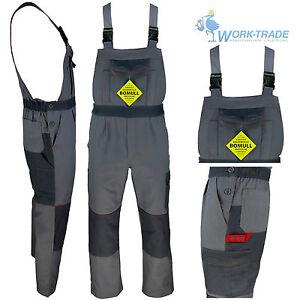 46-62 Arbeitshose Bundhose Arbeitskleidung Schutzkleidung Leuchtrot Grau Gr