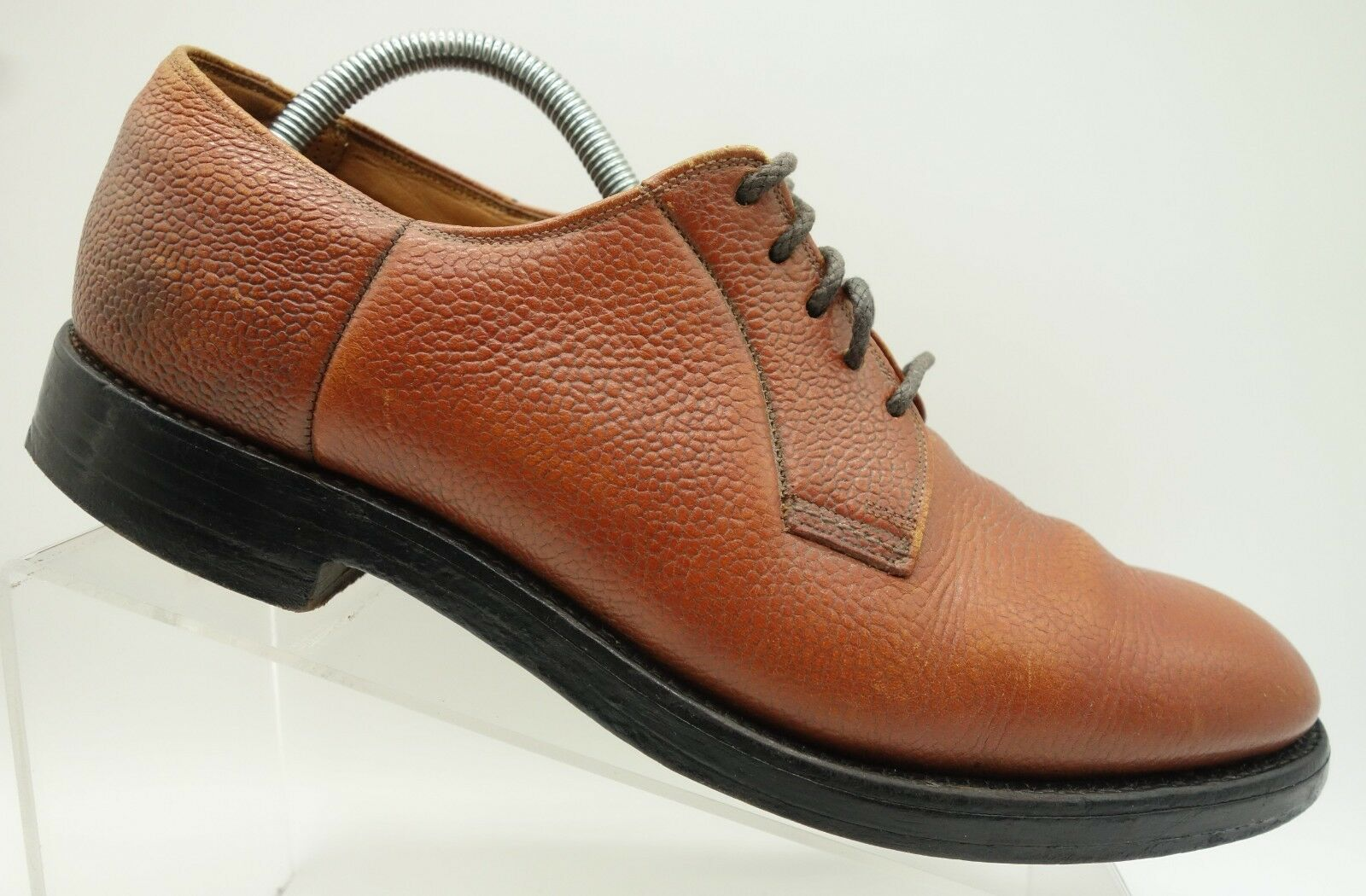 Boyd's Threadneedle Street Marronee Leather Plain Toe Toe Toe Oxford V Cleat scarpe Uomo 9 C 6ed905