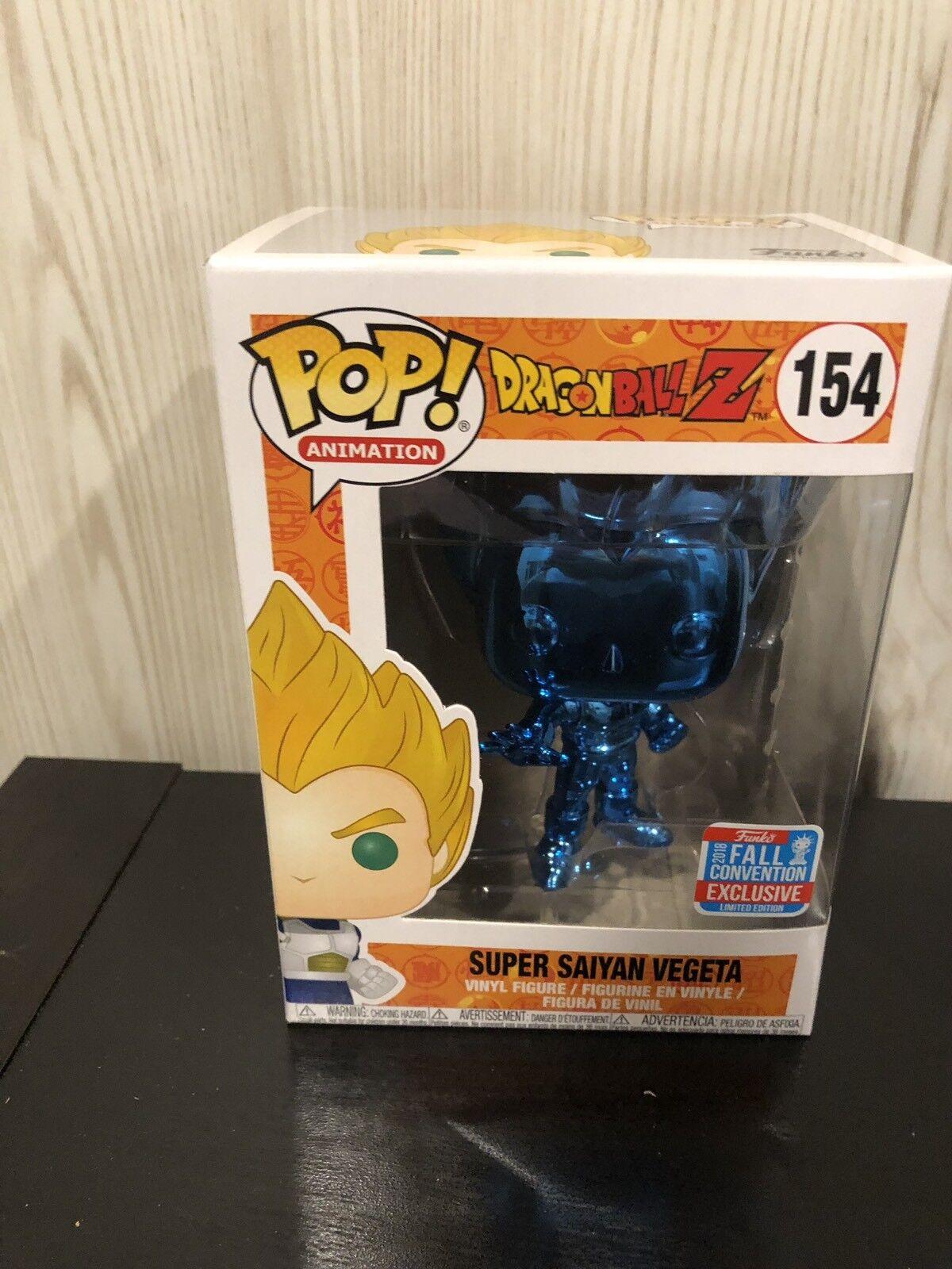 Dragon Ball Z Blau Chrome Super Saiyan Vegeta 2018 NYCC Funko Pop