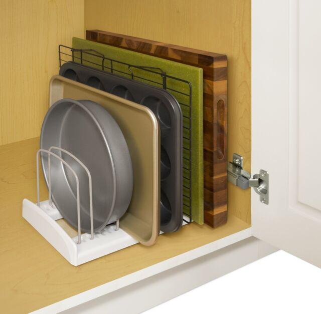Adjustable Bakeware Storage Rack Cabinet Organizer Dish Pan Pot Holder  Kitchen