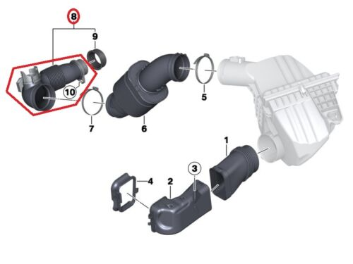 For BMW 228i 428i 528i X1 X4 Z4 Intake Boot Intake Boot to Turbocharger Genuine